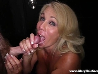 milf swallow Gloryhole Secrets mature blonde sucks strangers cocks 2