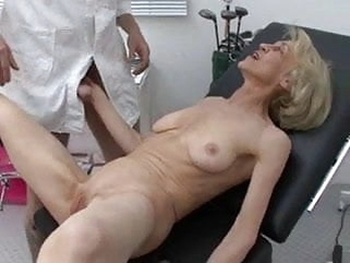 hardcore anal Granny gets her Injection at the Doctors