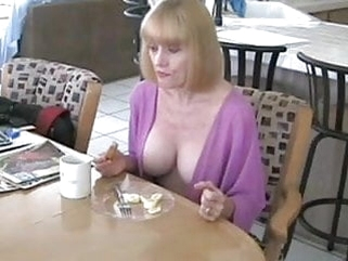 mature blowjob Mother and Not Her Son Have Breakfast