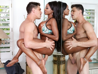 big tits interracial Diamond Jackson & Bruce Venture in Neighbor Affair