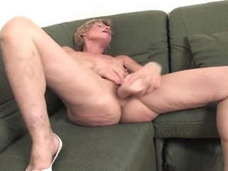big tits masturbation Sexy Saggy Euro Mature Pounds Her Pussy.