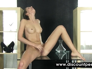 solo female fetish Stunning brunette seductively pisses in this scene
