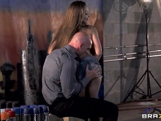 milf brunette Dani Daniels and Johnny Sins screw so hard