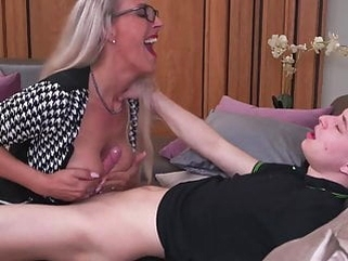 blowjob amateur Smart mom teaching stupid son