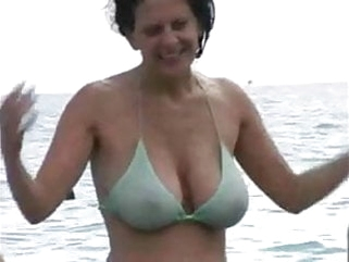 mature amateur Hot Milf in Bikini at The Beach
