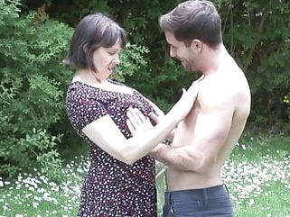 mature amateur MATURE NL mom son outdoor sex