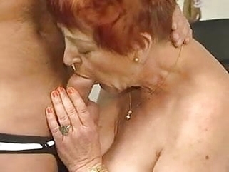 mature hairy Deliciously Hairy Granny Sucks and Fucks