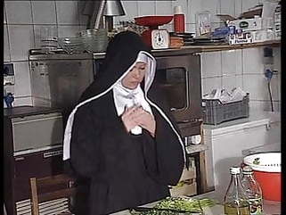 facial anal German nun assfucked in kitchen
