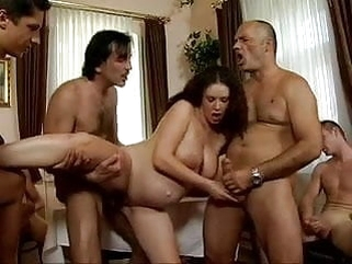 pregnant hardcore daddy's Friends Gangbang his pregnant daughter