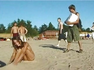 public nudity amateur Spy nude girl picked up by voyeur cam at nude beach