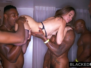 interracial anal BLACKEDRAW My girlfriend got gangbanged at the after party