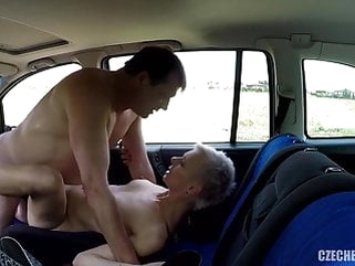 public nudity amateur Older Hooker fucked in a car without rubber