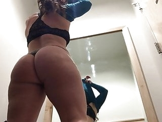 brunette amateur Changing Room Voyeur - Shopping Mall