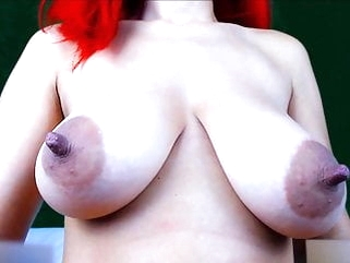 anal webcam Girl play with her big juicy boobs (Part2 - 6H show)